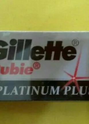 Лезвия для бритья двусторонние Gillette rubie platinum plus