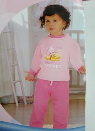 Чудесный теплый костюм пижама для девочки винни пух от disney ...