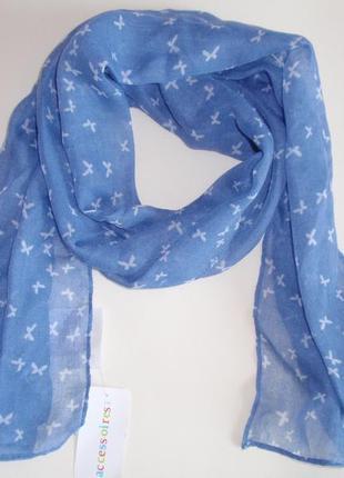 Красивый легкий шарфик, шарф  бабочки accessoires c&a, германия