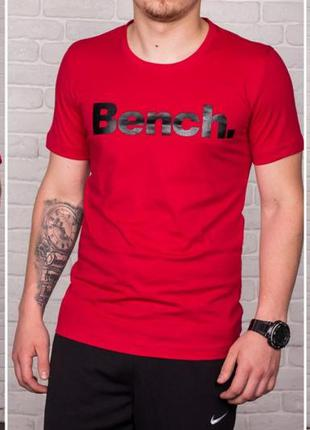 Футболка принт bench красный