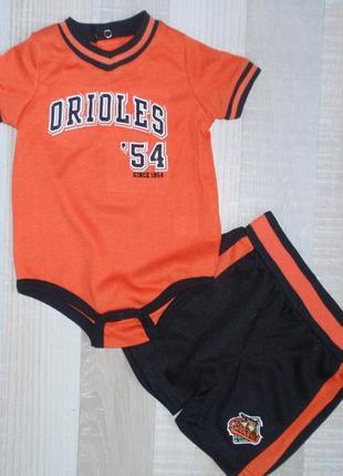 Комплект бодик и шорты для мальчика на 6-9 мес - америка
