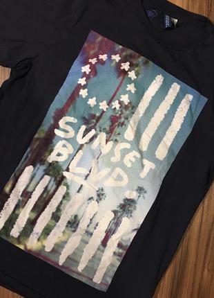 H&M M футболка мужская с принтом новая