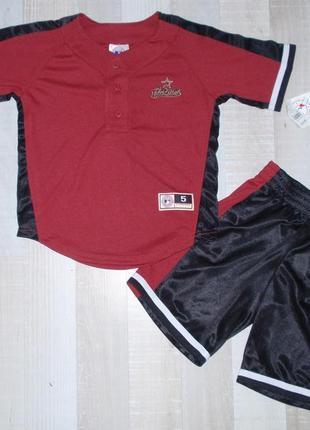 Костюм для мальчика футболка и шорты комплект спортивный - аме...