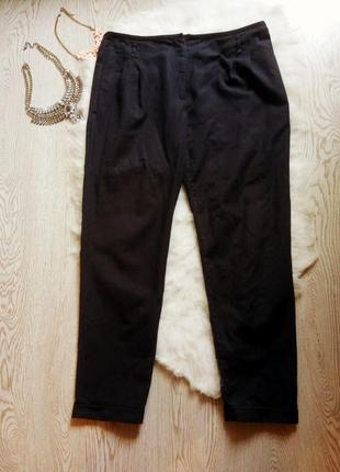 Синие брюки с карманами zara кроп штаны батал большой размер п...