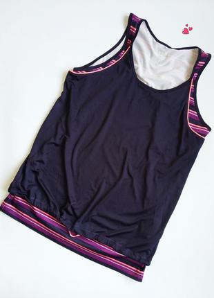 Майка tchibo двойная яркая спортивная,одежда для фитнеса