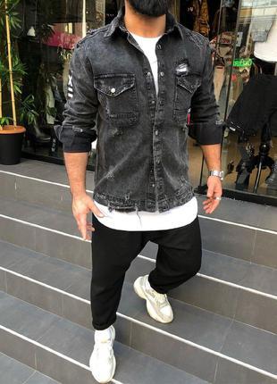 Мужская джинсовая куртка HХ