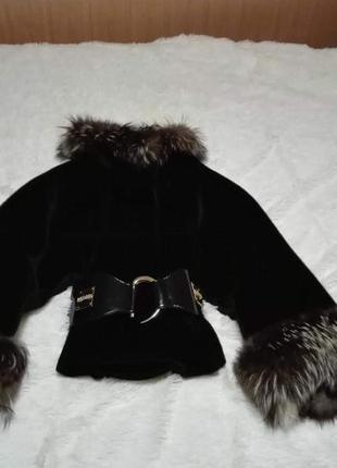 Пальто шуба мех