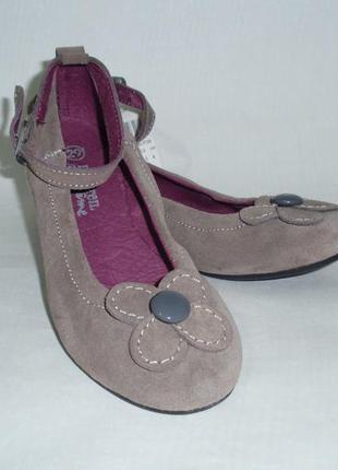 Туфли балетки для девочки замшевая кожа кожаные бренд dpam фра...