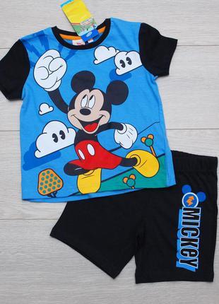 Летний костюм для мальчика микки маус футболка и шорты pepco 9...