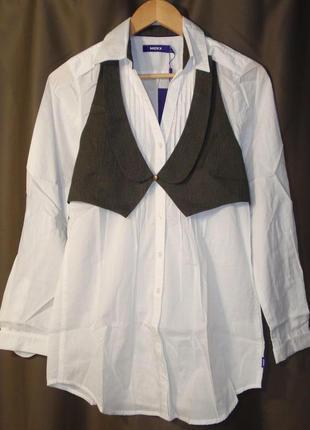 Классная блуза с жилеткой блузка хлопок голландский бренд mexx...