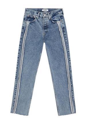 Мом джинс с боковыми швами
