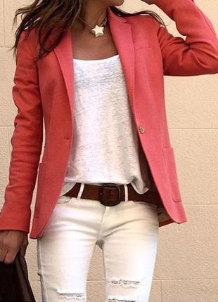 Рожевий піджак h&m