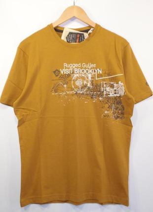 Стильная футболка мужская хлопок германия бренд gin tonic р. x...