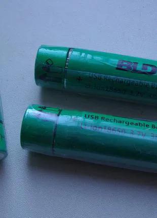 Аккумулятор 18650 Li-ion 3.7v (с зарядкой от USB)