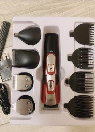 Мультитриммер, машинка для стрижки, Gemei, триммер 10в1, бритва
