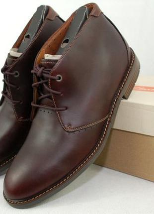 47/31 см, CLARKS Unelott Mid мужские ботинки кожа туфли ботинки