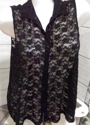 Блуза кружево гипюр