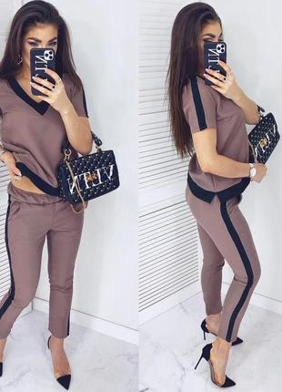 🌺новинка🌺летний костюм брюки + футболка в расцветках,качество 👍