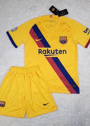Футбольная форма фк барселона (детская и взрослая) футболка+шорты