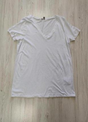 Распродажа до 30 июня 🔥  белая футболка с v образным вырезом