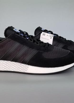 Кроссовки оригинал adidas originals marathon tech boost black ...