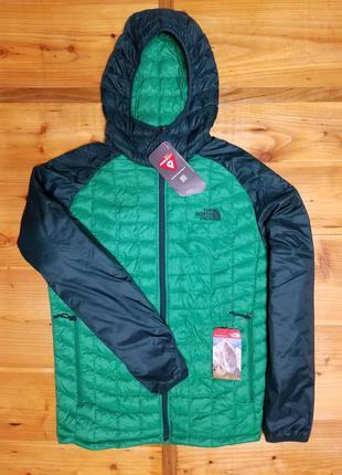 Куртка пуховик the north face thermoball sport hoodie green ор...