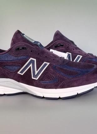 "Кроссовки оригинал new balance 990v4 made in usa ""dark purple""..."