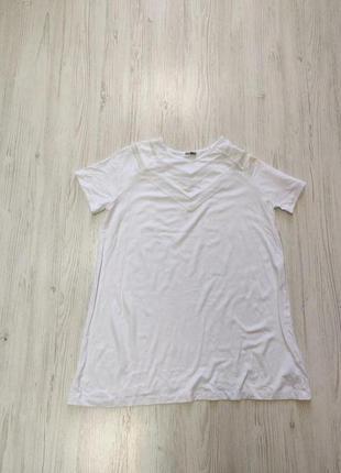 Распродажа до 30 июня 🔥  белая футболка оверсайз со вставками ...