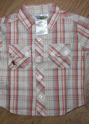 Рубашка с коротким рукавом в клетку hadleigh на 12-18 мес.