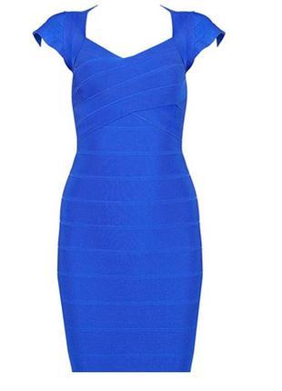 Платье короткое синее футляр нарядное 46 48 размер бюстье кокт...