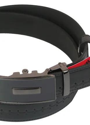 Мужской кожаный ремень под брюки Skipper 1090-35 черный