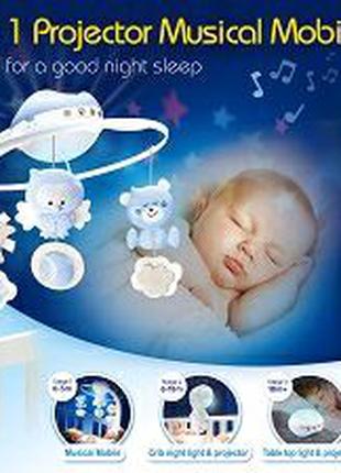 Продам музыкальный мобиль Infantino 3 в 1 с проектором, голубой.