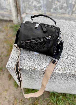 Женская кожаная сумка. Кожаный клатч. Кроссбоди.