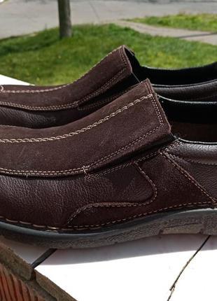Кожаные туфли rieker 44-45