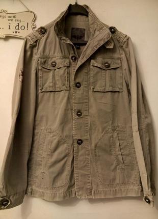 Мужская ветровка пиджак милитари хаки хлопок