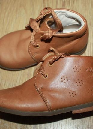 Туфли ботиночки clarks кожа 22р.