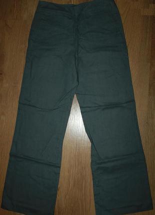 Льняные прямые широкие брюки от дизайнера paul costelloe 38-40р.