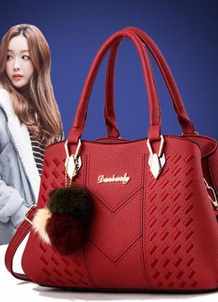 Женская стильная новая красная сумка новинка 2020