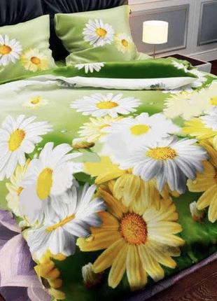 Комплект постельного белья ромашки 3д