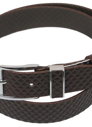 Мужской кожаный ремень под брюки Skipper 1132-35 коричневый