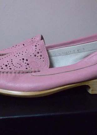 Кожаные туфли лоферы мокасины бренд romani.