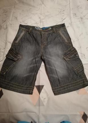 Джинсовые шорты оригинального дизайна utility short s. 36