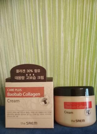 Коллагеновый крем с экстрактом баобаба the saem care plus baob...