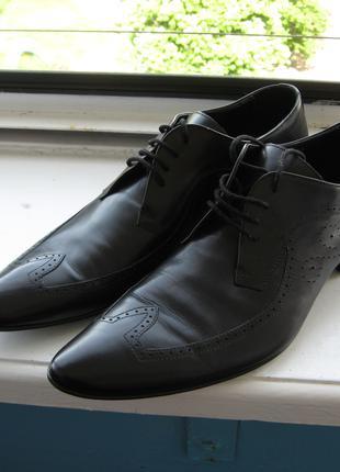 Кожаные мужские туфли, Carlo Pazolini, р.42