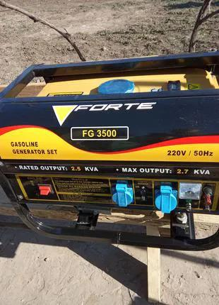 Бензогенератор Forte FG3500 новый