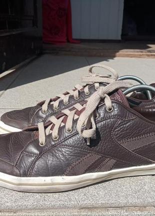 Кожаные кроссовки reebok 44-45 разм