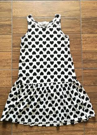 Платье сарафан сердечки 6-8 лет