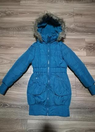 Зимняя куртка для девочки 134-140