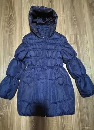 Куртка пальто осенняя плащевка на девочку 10-11 лет