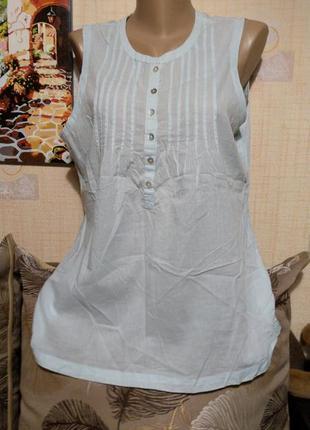 Нежно-голубой топ блуза туника от pimkie